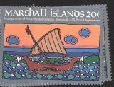 Marshall Islands - Inauguration of Postal Independence Marshal - US Postal Agree