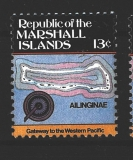 Marshall Islands - ostrov Ailinginae - mapa