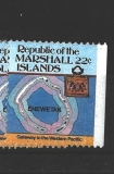 Marshall Islands - ostrov Enewetak - mapa
