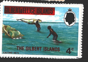 The Gilbert Islands, př. na Gilbert & Ellice Islands, různá známka